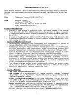 EMILIA BRAMANTI CV- July 2014 Italian National Research Council