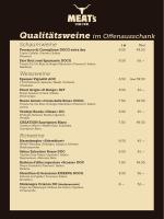 Qualitätsweine im Offenausschank