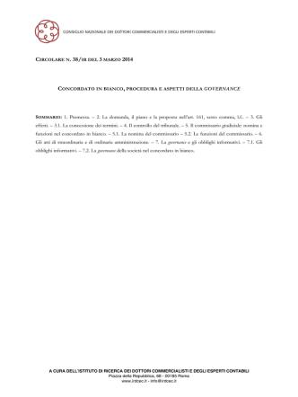 20 marzo 2015 - Centro Studi del Consiglio Nazionale degli Ingegneri