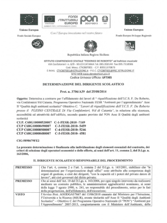 CTIC887001 Determina a contrarre Asse II