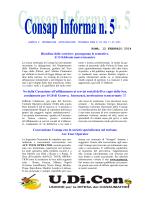 Consap Informa n.5 del 12.02.14