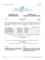 Beschluss des Verwaltungsrates Delibera del consiglio di