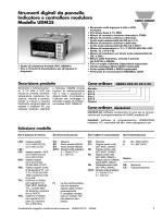 Strumenti digitali da pannello Indicatore e controllore