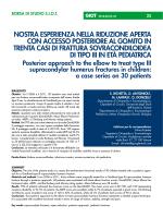 full text - pdf document - Giornale Italiano di Ortopedia e