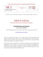Scarica il programma - Italia è Cultura
