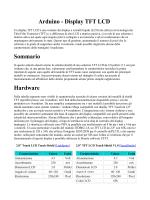 Arduino - Display TFT LCD Sommario Hardware