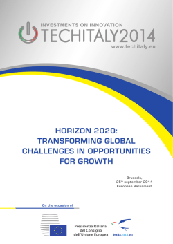 Horizon 2020: Transforming global CHallenges in opporTuniTies for