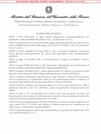 D.D. 1065 DEL 29.12.2014