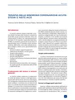 terapia delle sindromi coronariche acute: stemi e nste-acs