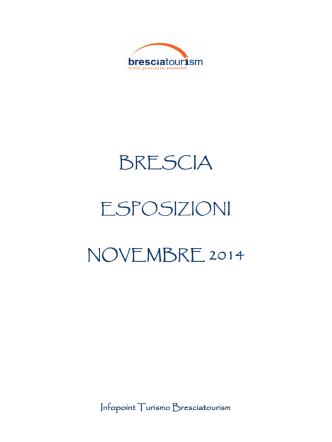 Calendario Esposizioni Novembre 2014