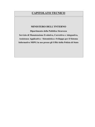 CAPITOLATO TECNICO 2014 MIPG aggiornato