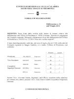 1. - Consiglio regionale della Calabria