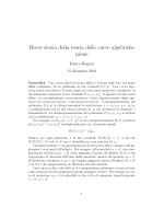 Breve storia della teoria delle curve algebriche piane