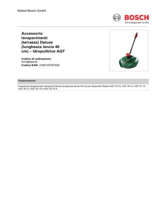 (terrazze) Deluxe (lunghezza lancia 40 cm) – Idropulitrice AQT