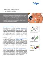Terminali ECG riutilizzabili a derivazioni multiple
