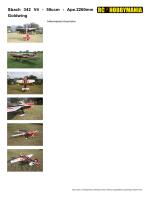 Sbach 342 V4 - 50ccm - Ape.2260mm - Goldwing - rc