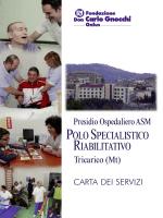 SCARICA LA CARTA DEI SERVIZI DEL CENTRO (ed. set. 2014)
