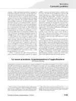 Le nuove procedure, la partecipazione e l