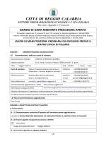 bando lavori CENTRO CIVICO PELLARO