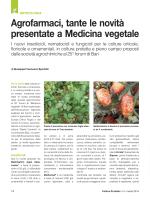 Agrofarmaci, tante le novità presentate a Medicina vegetale