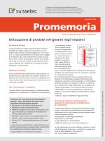 Utilizzazione di prodotti refrigeranti negli impianti 356 KB