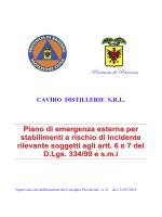 Documento tecnico Caviro distillerie