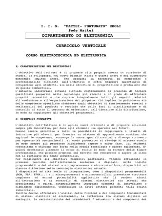 1 CARATTERISTICHE DEI DESTINATARI - IIS Mattei