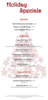 Christmas Day Menu 2014