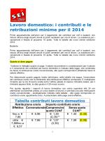 Lavoro domestico: i c retribuzioni minime p oro domestico: i
