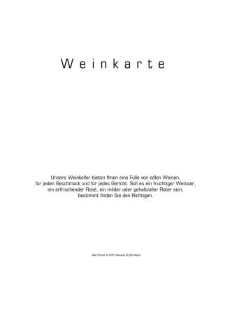 Aktuelle Weinkarte - Hotel des Balances Luzern