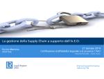 Certificazione Affidabilità Doganale e di sicurezza AEO