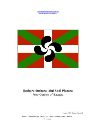 Course of Basque - Curso de Euskera