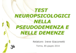 03. Test neuropsic pseudodemenza e demenze - I. Giacometti
