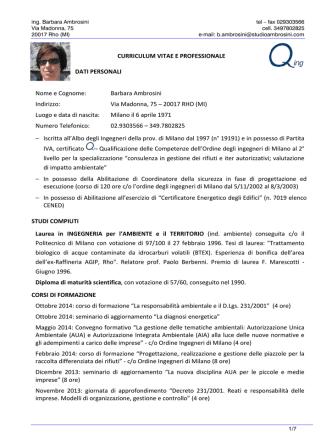 Ambrosini - Ordine degli Ingegneri della Provincia di Milano