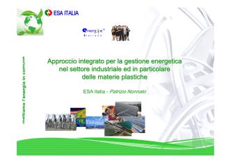 Approccio integrato per la gestione energetica nel settore