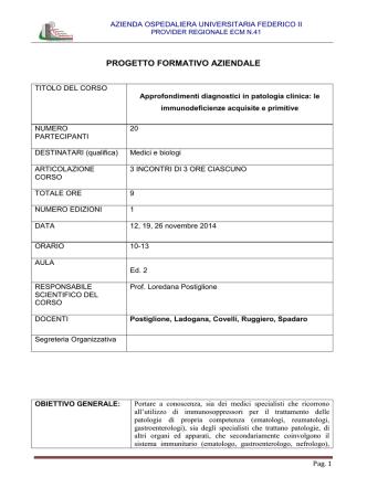 approfondimenti diagnostici in patologia clinica - 1