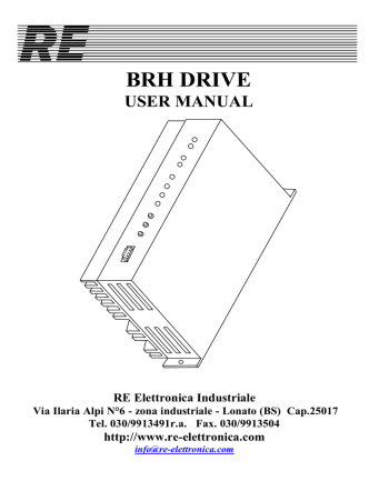 BRH DRIVE - RE Elettronica Industriale