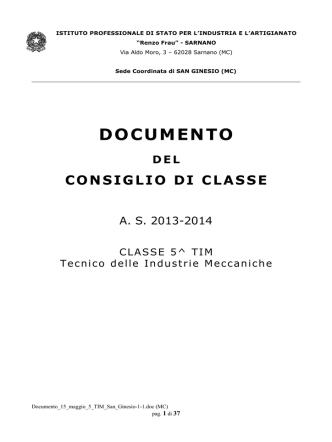 Classe V TIM - IPSIA