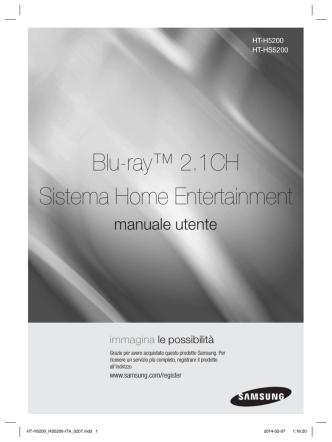 Blu-ray™ 2.1CH Sistema Home Entertainment