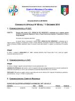 Comunicato Ufficiale n. 80 del 11 Dicembre 2014