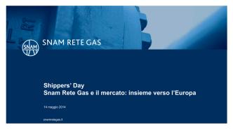 5-CAM e CMP - Snam Rete Gas