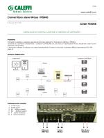 Convertitore slave M-bus / RS485 Code 755058