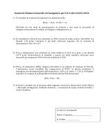 Esami di Chimica Generale ed Inorganica per S.F.A del 10/02/2014