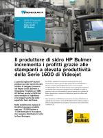 Cider Maker HP Bulmer investe nelle stampanti Videojet Serie 1600