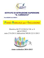 PAI - Liceo Statale Carducci