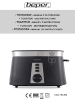 tostapane - manuale di istruzioni • toaster - use instructions