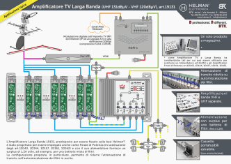 BTK. Amplificatore TV Larga Banda (UHF 131dBµV