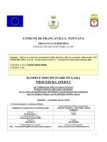 COMUNE DI FRANCAVILLA FONTANA BANDO E DISCIPLINARE