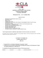 CLA - OLA OFFERTA LINGUISTICA DI ATENEO Laboratorio lingua
