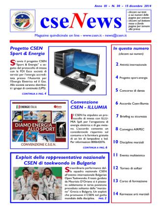 cseNews - CSEN Comitato Provinciale Ragusa